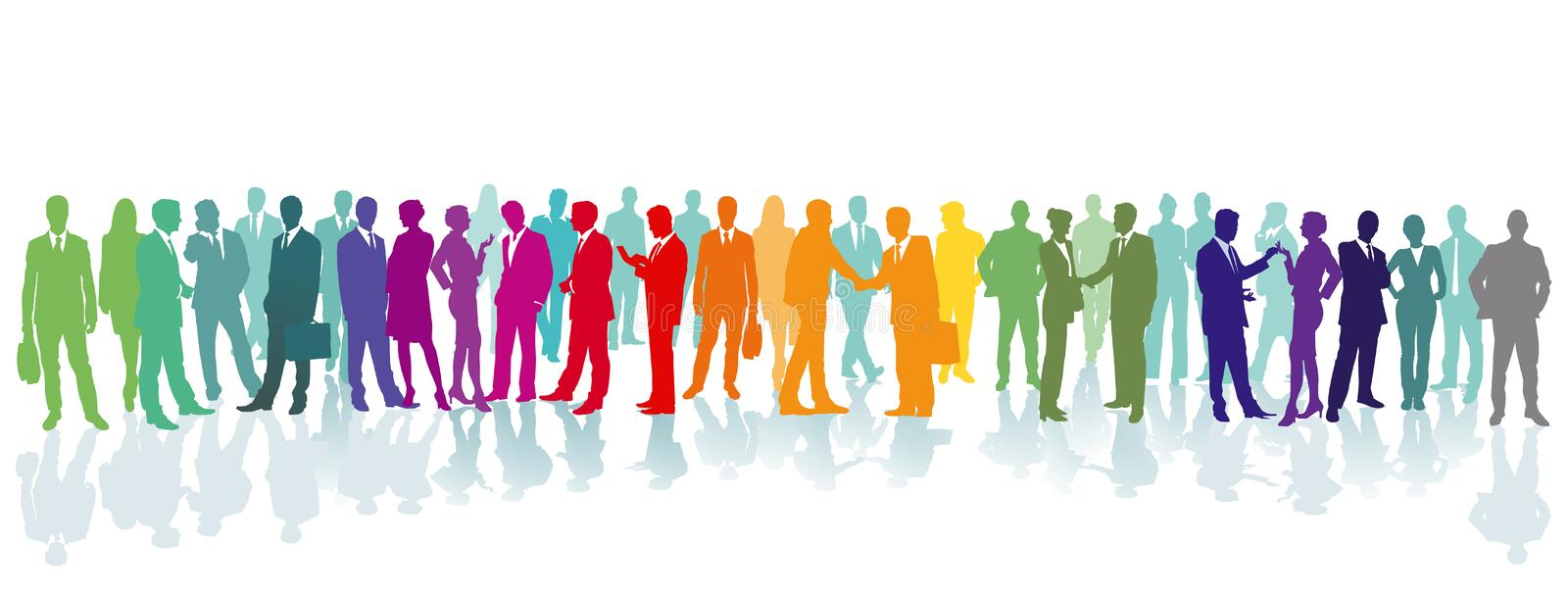 Colorful crowd on a place. Illustration vector illustration