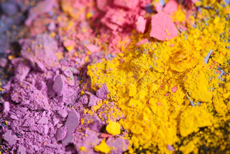 Colorful crushed eye shadow cosmetic royalty free stock photo