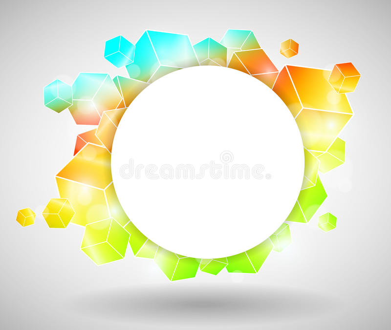 Download Colorful Cube Design stock vector. Image of entertainment - 23690769