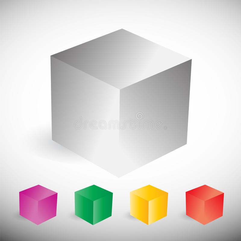 Colorful cube set vector illustration