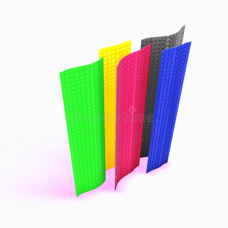 Colorful cube walls stock illustration
