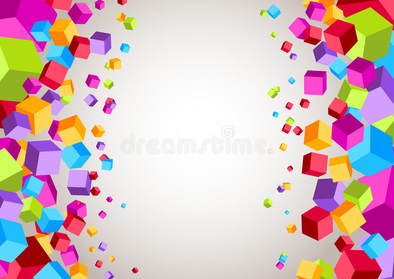 Download Colorful Cubes On The Sides - Geometrical Backgrou Stock Vector - Image: 36719741