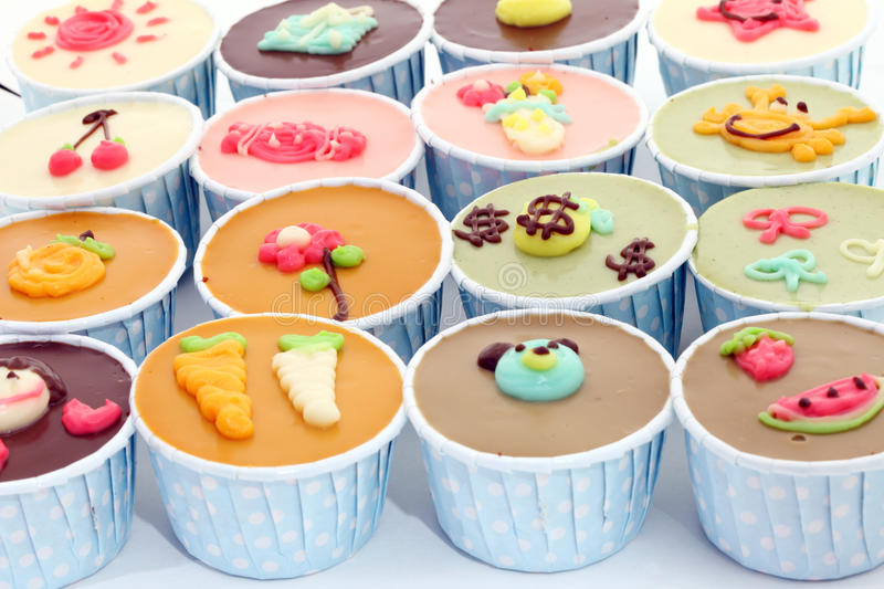 Download Colorful Cup Cake stock image. Image of food, junk, perspective - 24181763