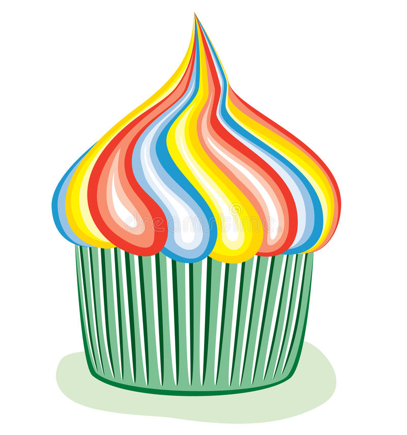 Download Colorful cupcake stock vector. Illustration of home, baked - 14204500