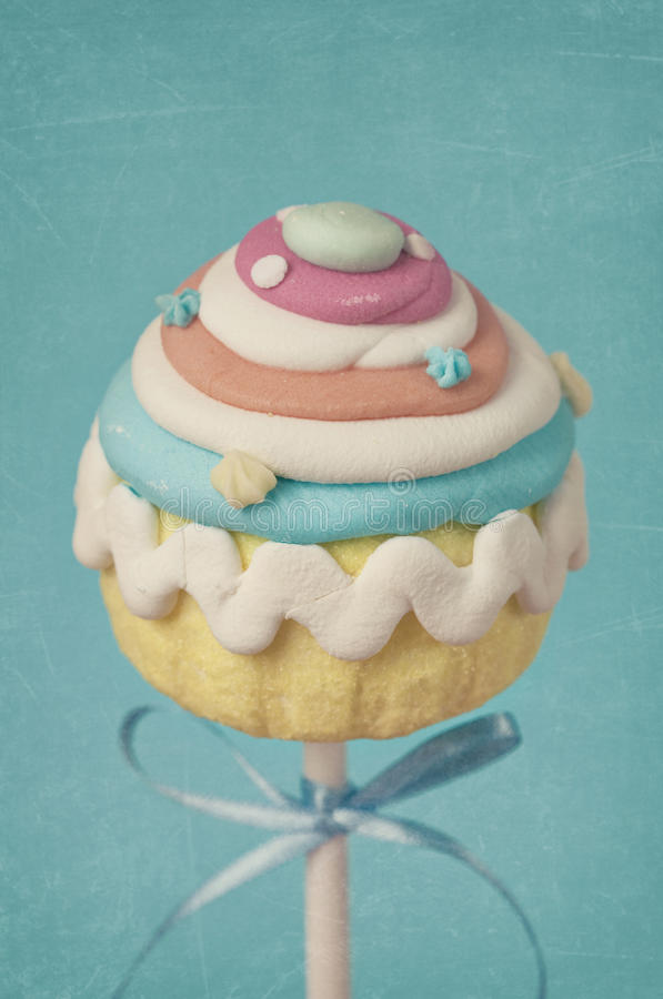 Colorful Cupcake Pops Royalty Free Stock Image