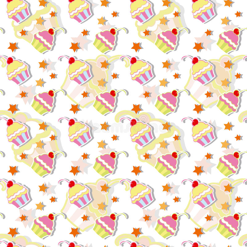 Download Colorful Cupcake Seamless Pattern Stock Vector - Image: 26277709