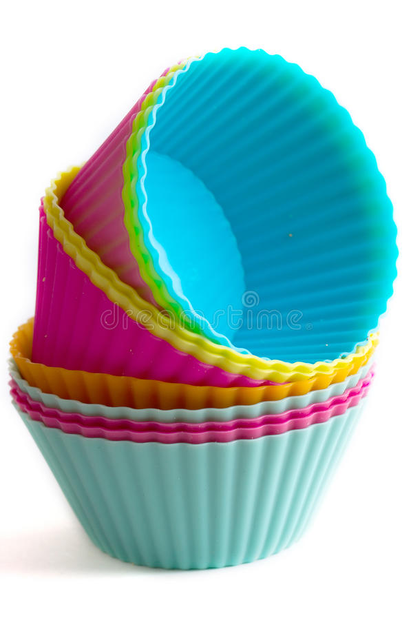 Download Colorful Cupcake Silicon Molds Stock Photo - Image of equipment, copy: 30377748