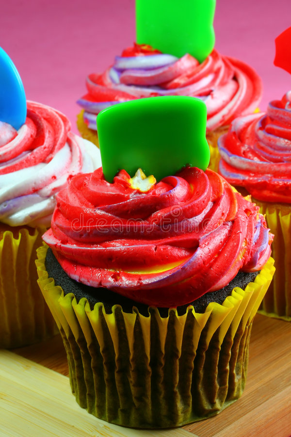 Colorful Cupcakes, vertical stock photos