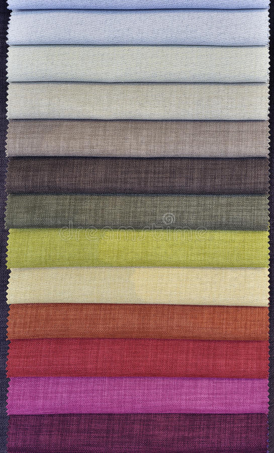 Colorful Curtain Fabric Samples royalty free stock images