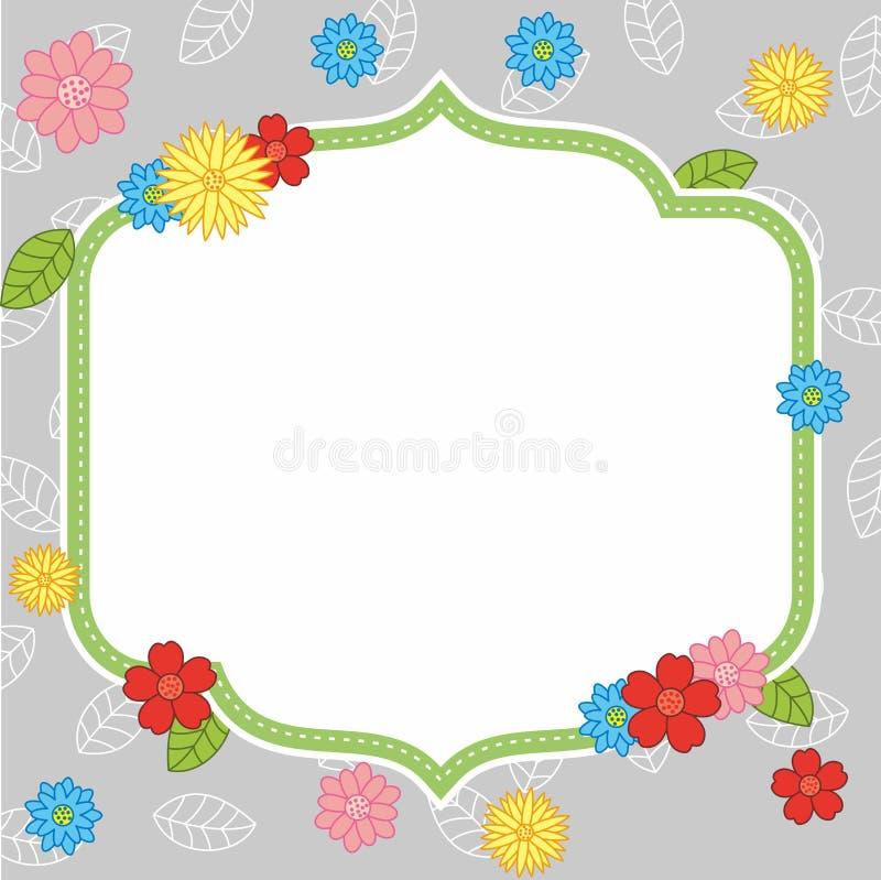 Blank Colorful Cute Flower Frame Design Background royalty free illustration