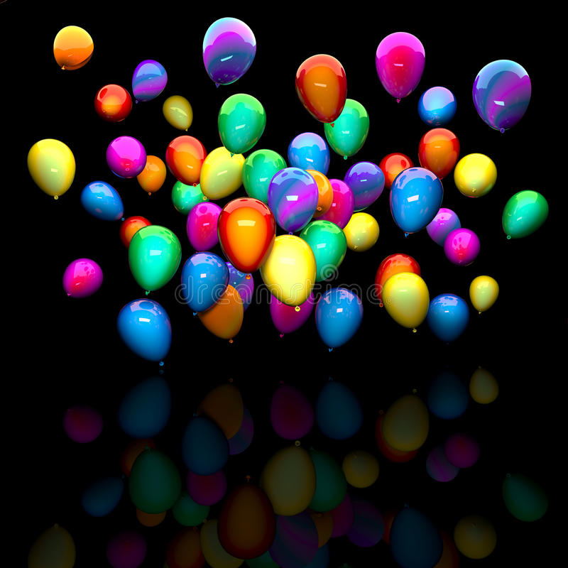 Colorful 3d balloon vector illustration