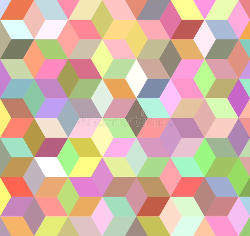 Colorful 3d cube mosaic background design royalty free stock images