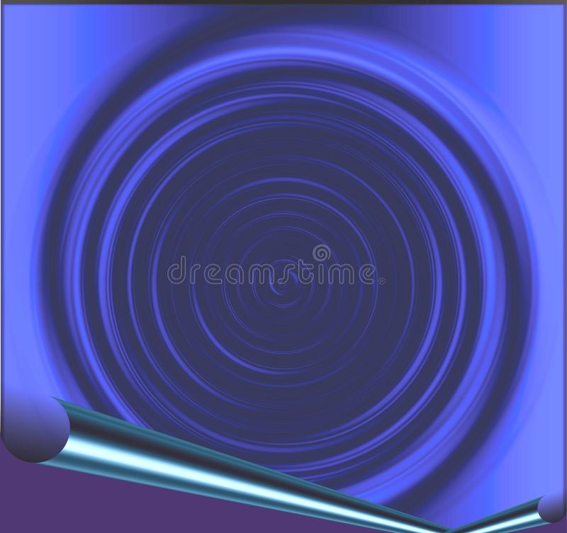 Colorful 3 d curly and swirly with lighting effect image design vector illustration