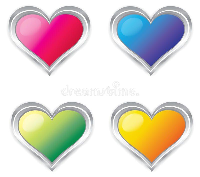 Colorful 3d Heart collection set