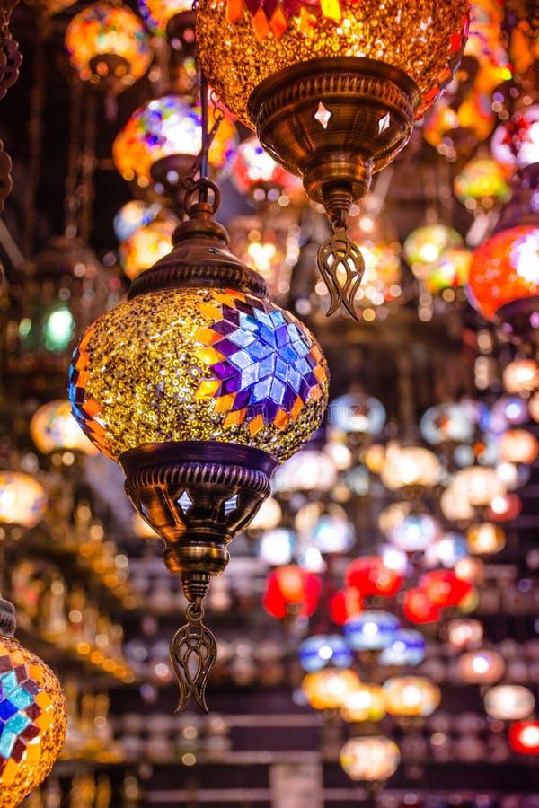 Colorful Hanging Light Lamp Decoration Stock Photo Image