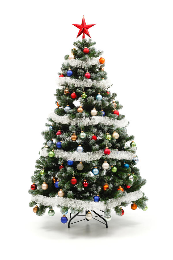 Free Colorful Decorated Artificial Christmas Tree Royalty Free Stock Images - 17362989