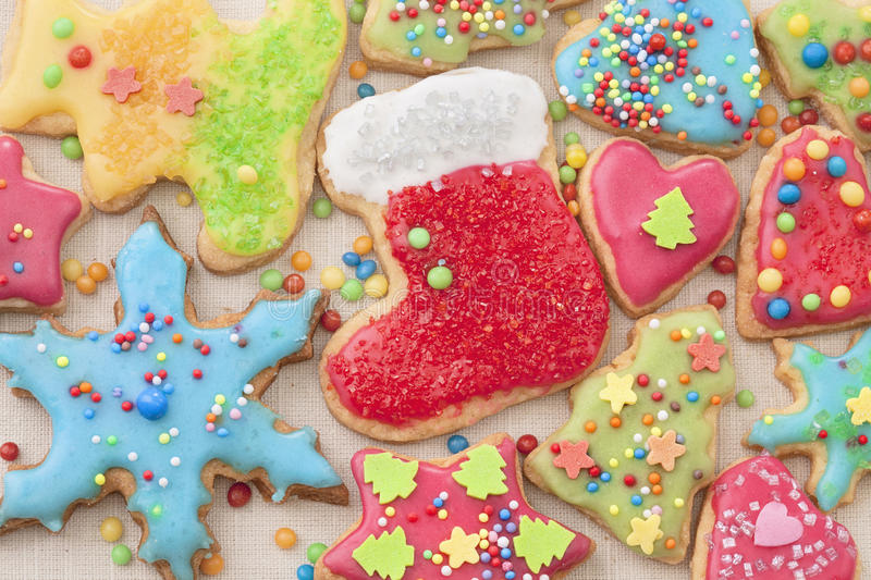 Colorful Decorated Cookies Royalty Free Stock Images