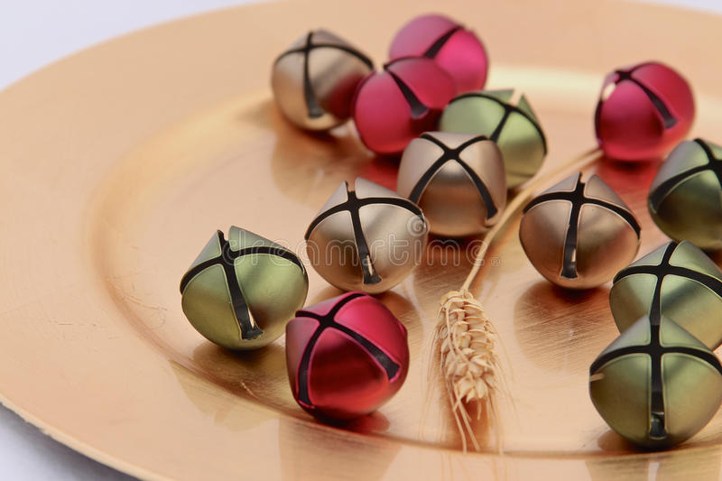Colorful decorations on plate stock image
