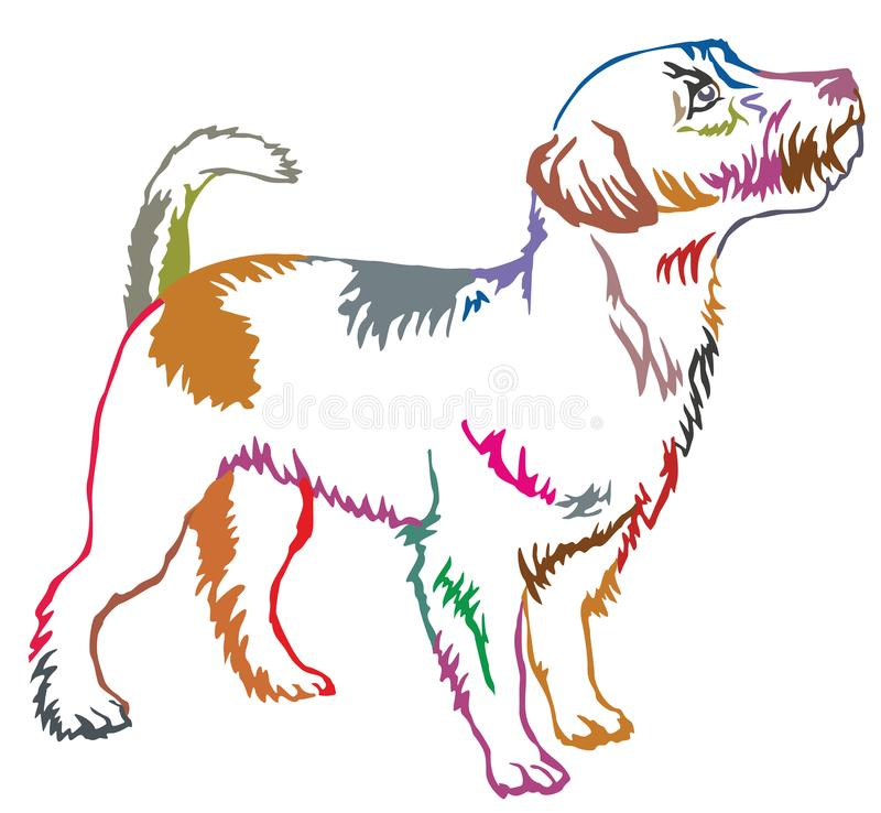 Free Colorful Decorative Standing Portrait Of Jack Russell Terrier Stock Photos - 109141873