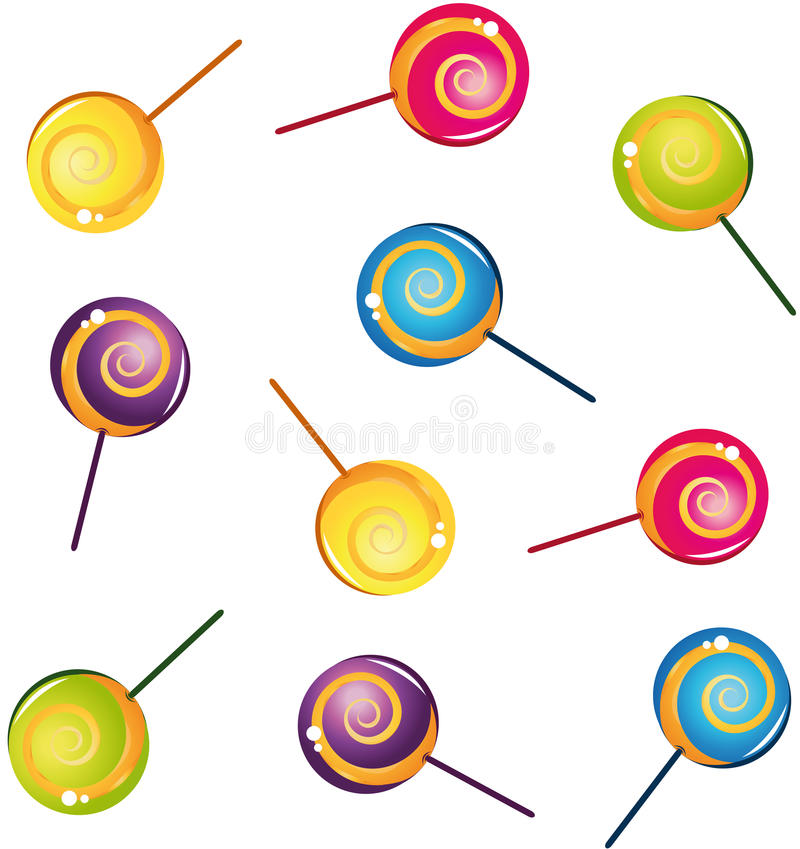 Free Colorful Delicious Lollipop Collection Royalty Free Stock Photos - 21274358