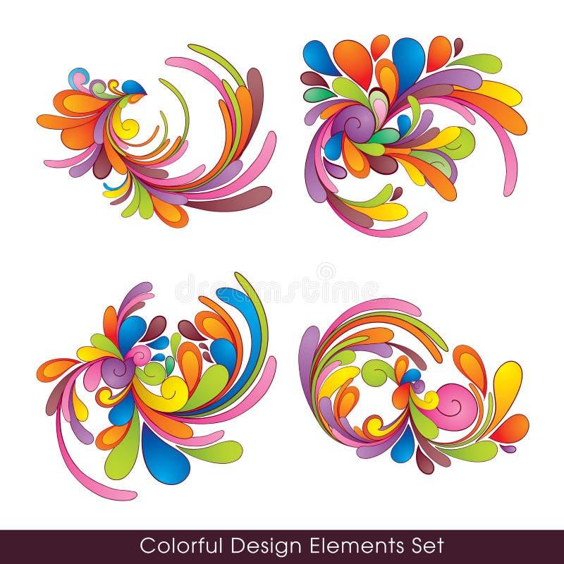 Colorful_design_elements_set vector illustratie