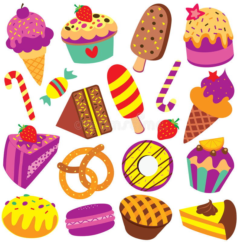 colorful desserts clip art set stock vector illustration of clip rh dreamstime com clip art desert palm clip art desert