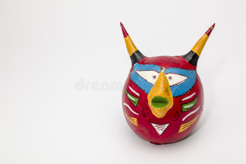 Colorful devil mask royalty free stock photo