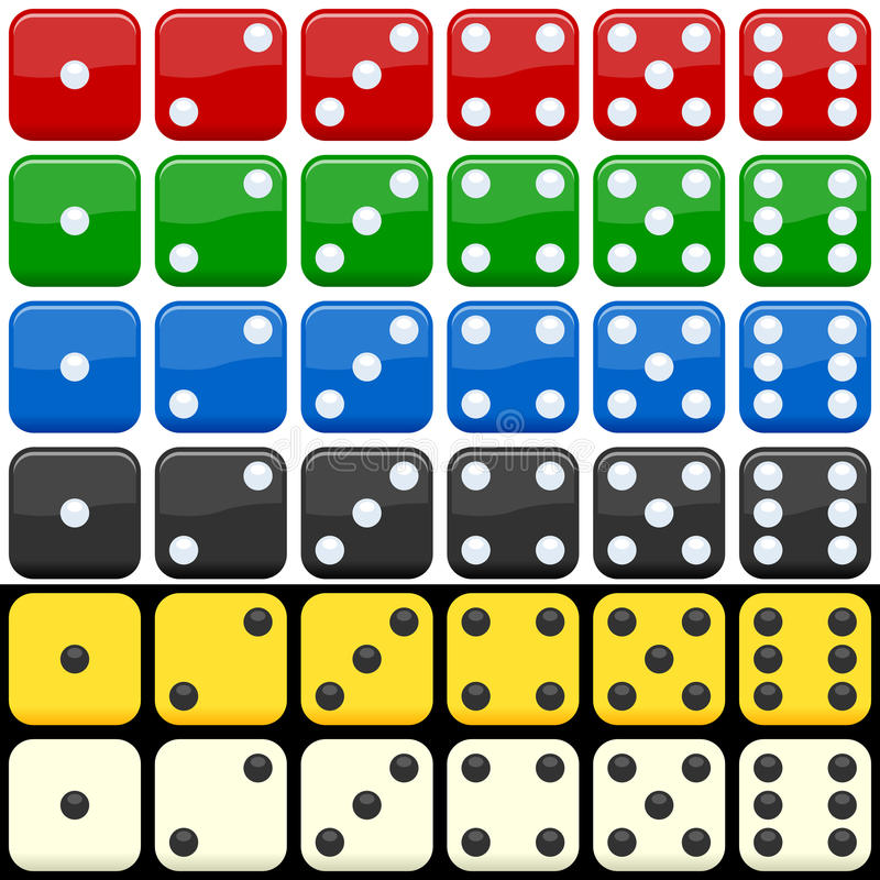 Free Colorful Dice Set Stock Photography - 21500882