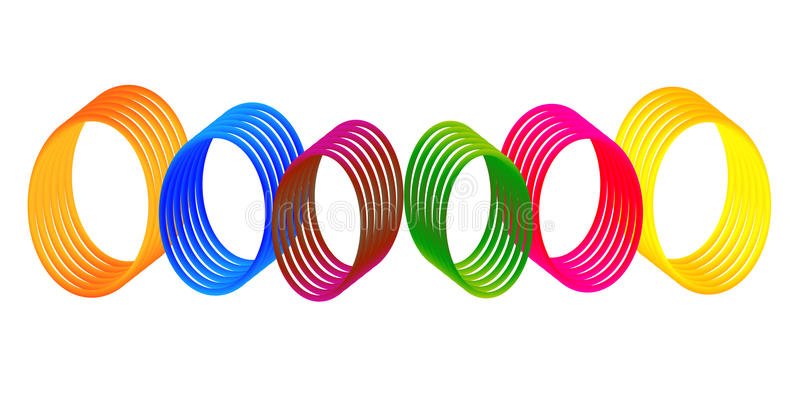 Download Colorful Digital Gradient Rings Stock Vector - Illustration: 11224805