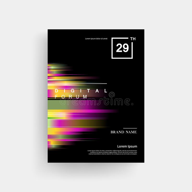 Colorful Digital Light Brochure Background. Colorful digital light effect Stylish brochure background royalty free illustration