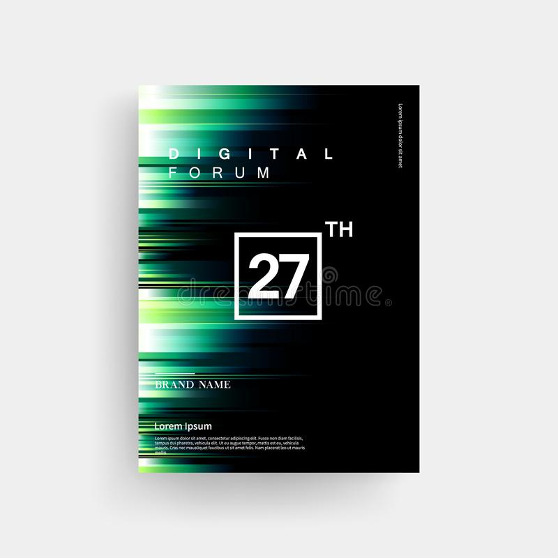 Colorful Digital Light Brochure Background. Colorful digital light effect Stylish brochure background stock illustration