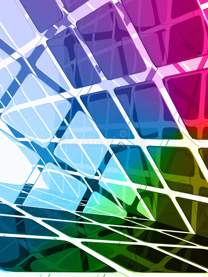 Download Colorful dimensional forms stock illustration. Image of background - 12868404
