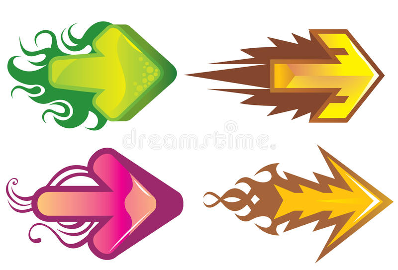 Download Colorful Directional Arrows Stock Vector - Image: 10827607