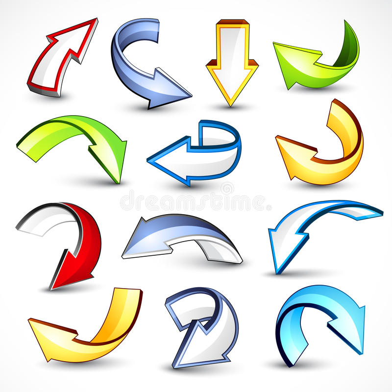 Download Colorful Directional Arrows Royalty Free Stock Photo - Image: 16392975