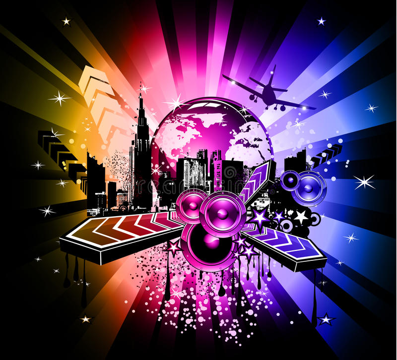 Download Colorful Discoteque Event Background Stock Illustration - Image: 13606168