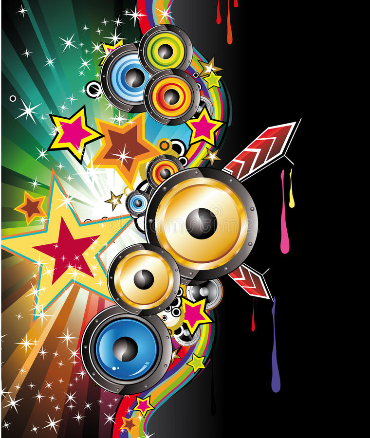 Colorful Discoteque Flyer Royalty Free Stock Photography