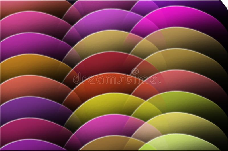 COLORFUL DISKS IN TRAY royalty free stock images