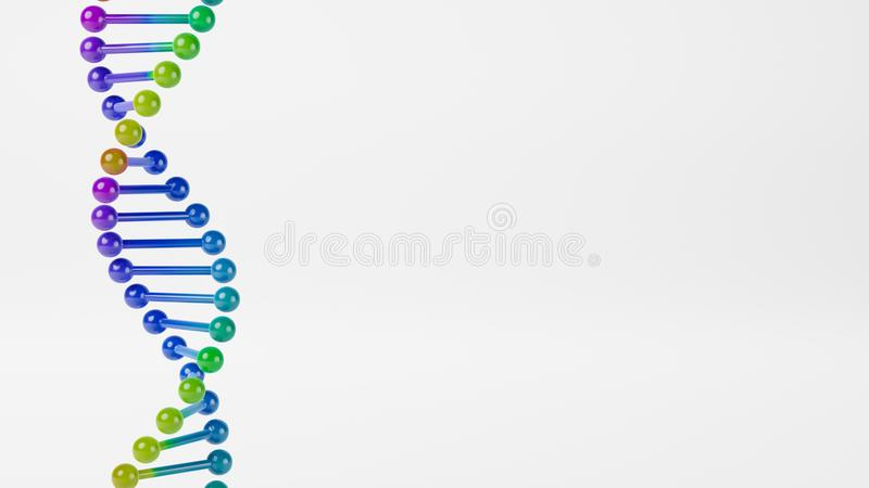 DNA Chain on Gray Background vector illustration