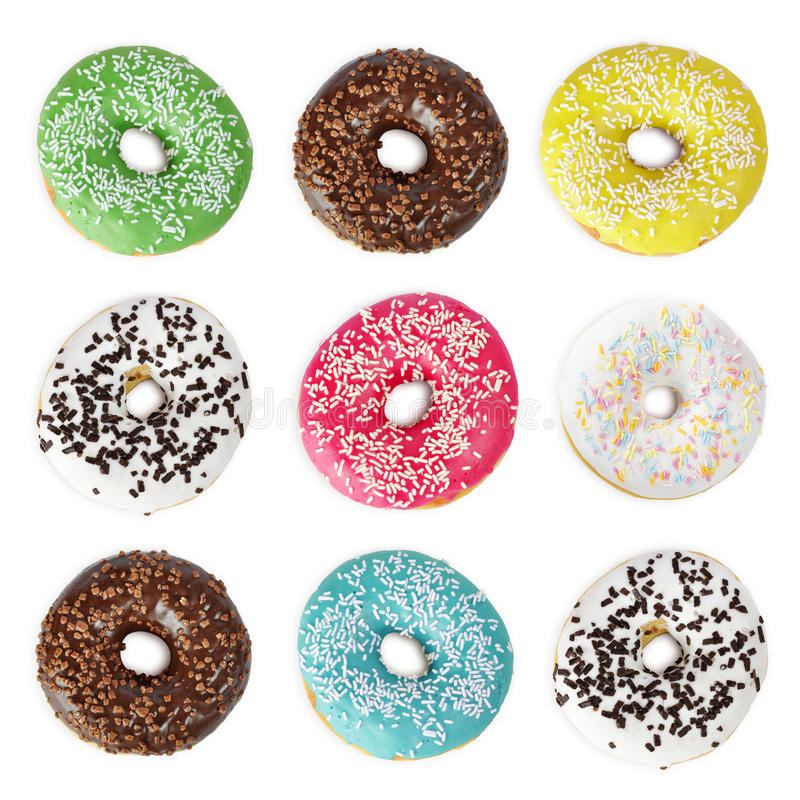 Colorful Donuts royalty free stock photography