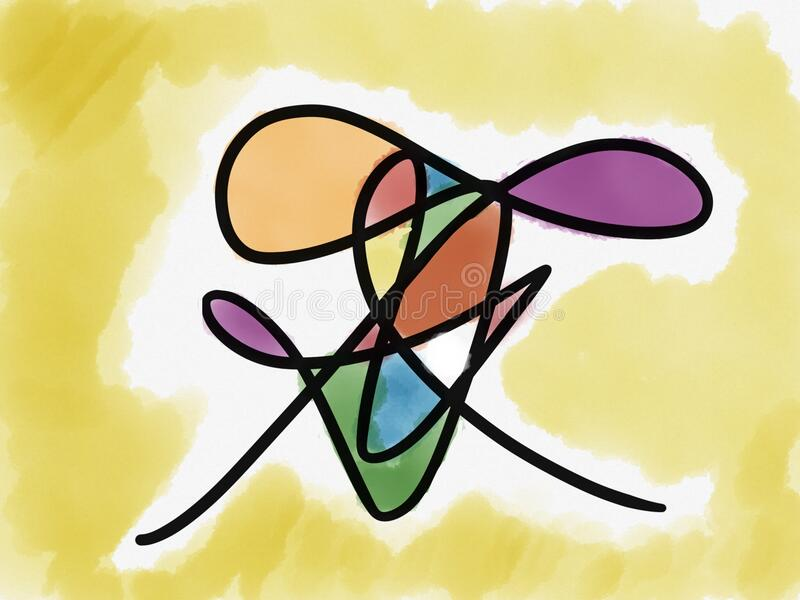 Colorful doodle art stock images
