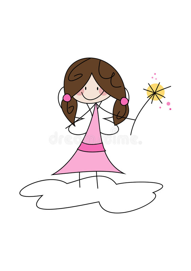 Download Cute little fairy girl stock vector. Image of dreaming - 30090245