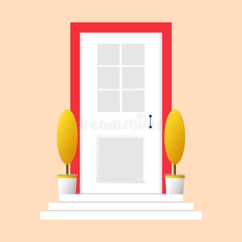 Colorful Door Concept. Door Flat Icon. Design Your Own Apartment ...