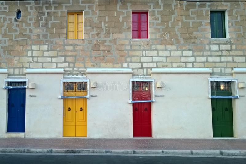 Download Doors color stock image. Image of mediterranean, malta - 58350143