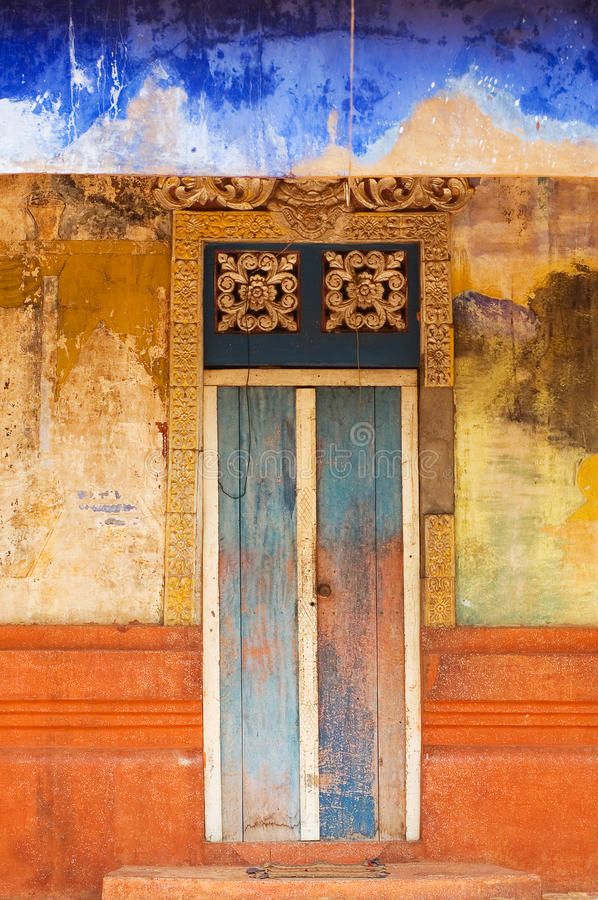 Download Colorful Doorway Entrace To Monk Temple Stock Image - Image of blue, neglected: 29159975