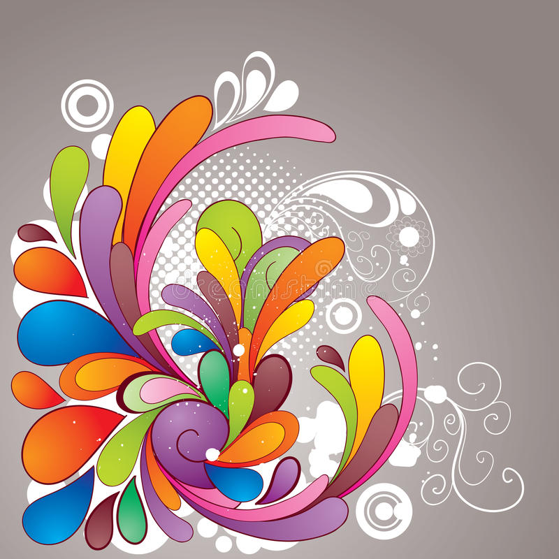 Colorful_drawing ilustração royalty free