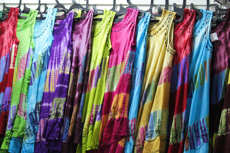 Colorful dresses stock photography