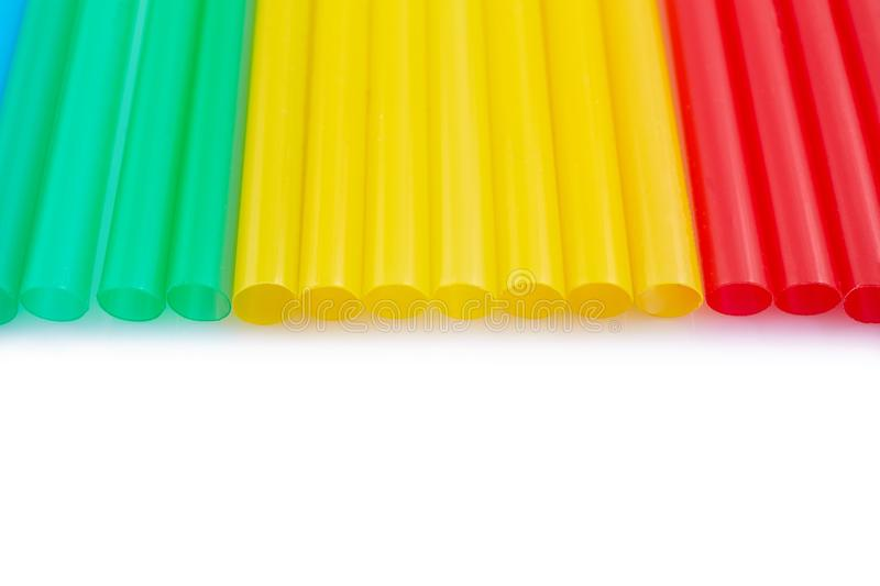 Colorful drinking straws for the color background. Abstract a colorful of plastic straws used for drinking water or soft drinks royalty free stock photos