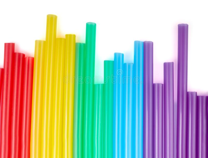 Colorful drinking straws for the color background. Abstract a colorful of plastic straws used for drinking water or soft drinks royalty free stock image