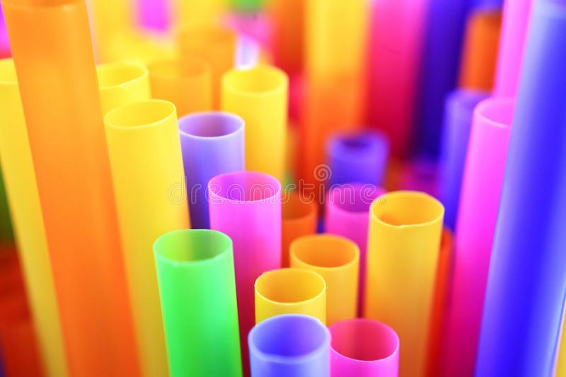 Colorful of drinking straws, top view, closeup, macro,. Abstract texture background royalty free stock image