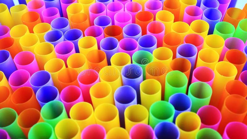 Colorful of drinking straws, top view, closeup, macro,. Abstract texture background stock images